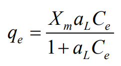 Langmuir model equation.PNG